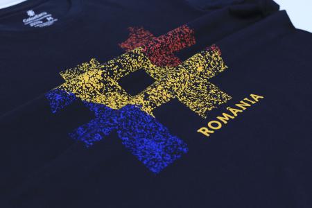 Tricou #România, bărbat, culoare bleumarin [3]