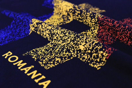 Tricou #România, damă, culoare bleumarin [2]