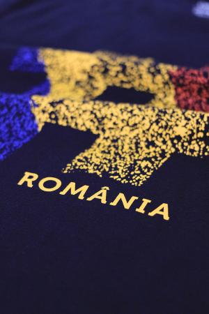 Tricou #România, damă, culoare bleumarin [1]
