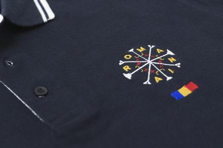 Tricou România broderie, culoare bleumarin [2]