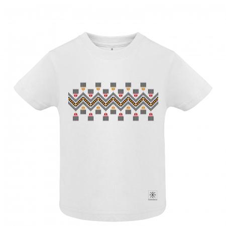 Tricou Tradiții, copii, culoare albă [0]
