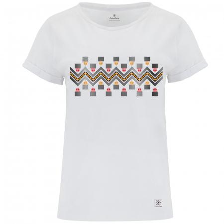 Tricou Tradiții, damă, culoare albă [0]