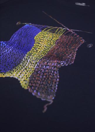 Tricou Tricolor Croșetat, damă, culoare bleumarin [1]