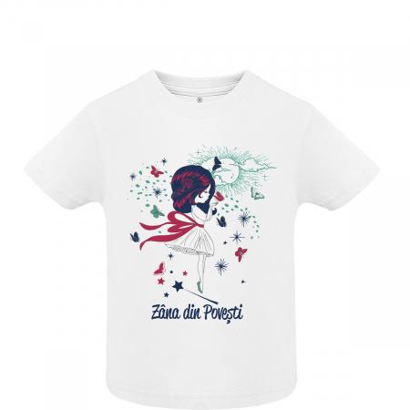 Tricou Zâna din Povești, copii, culoare albă0