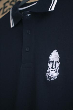 Tricou Decebal, brodat, culoare bleumarin3
