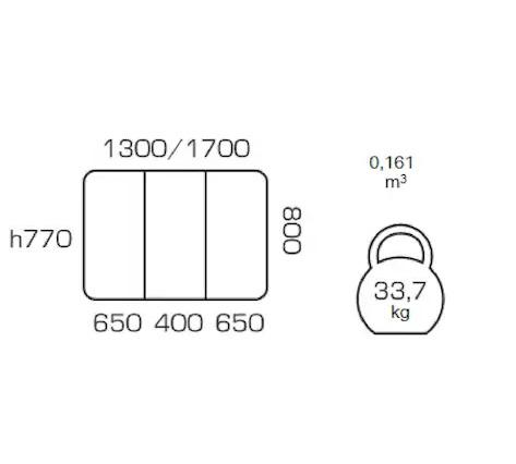 Masa de bucatarie extensibila COSY, 130(170)*80, Nut 2