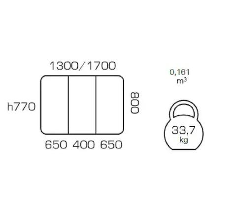 Masa extensibila COSY, 130(170)*80, Beige 3