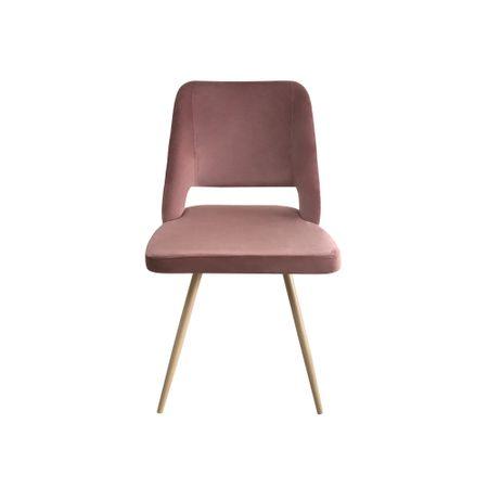 Set 4 scaune dining MANGO, catifea, picioare metalice, carmin 2