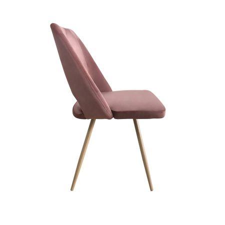 Set 4 scaune dining MANGO, catifea, picioare metalice, carmin 3