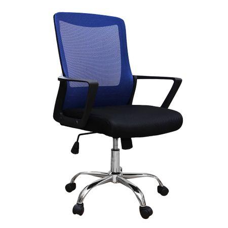Scaun de birou ergonomic CANNES, mesh, negru/albastru 0