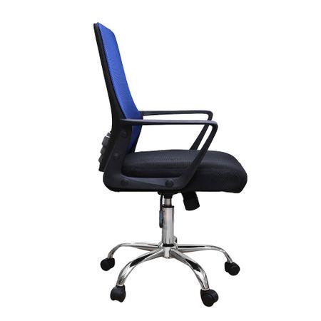 Scaun de birou ergonomic CANNES, mesh, negru/albastru 2