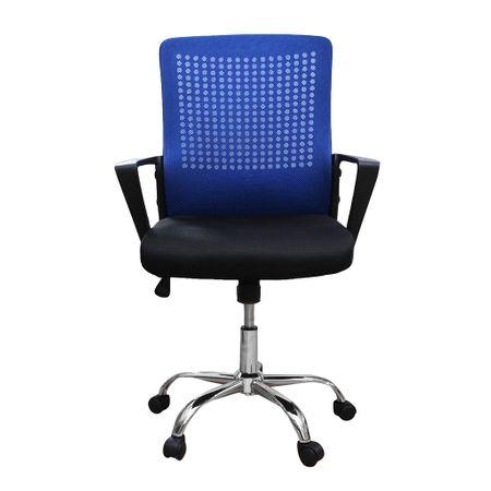 Scaun de birou ergonomic HEXI, mesh, negru/albastru [1]
