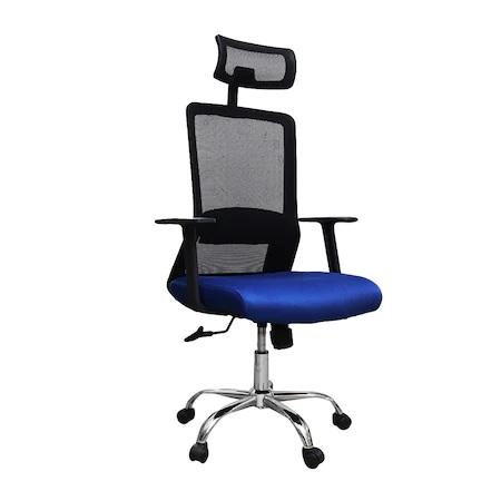 Scaun de birou ergonomic HELSINKI, mesh, albastru/negru [0]