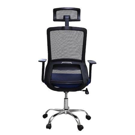 Scaun de birou ergonomic HELSINKI, mesh, albastru/negru [3]