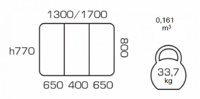 Masa de bucatarie extensibila LUMAS, 130(170)*80, Wenge [3]