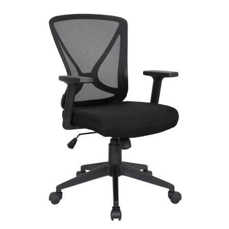 Scaun de birou ergonomic RENIS, Negru, Mesh/Textil 0