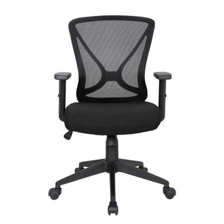 Scaun de birou ergonomic RENIS, Negru, Mesh/Textil 1