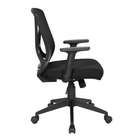 Scaun de birou ergonomic RENIS, Negru, Mesh/Textil 2