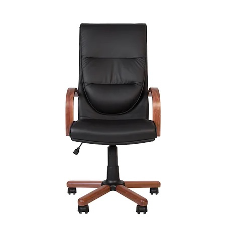 Set 2 scaune directoriale EXONIA EXTRA, brate din lemn, piele naturala, negru [6]