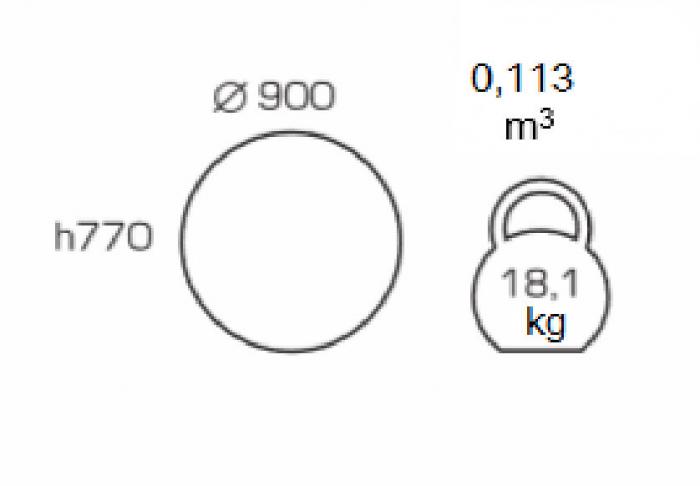 Masa de bucatarie GREMY, D900 mm, Wenge [1]
