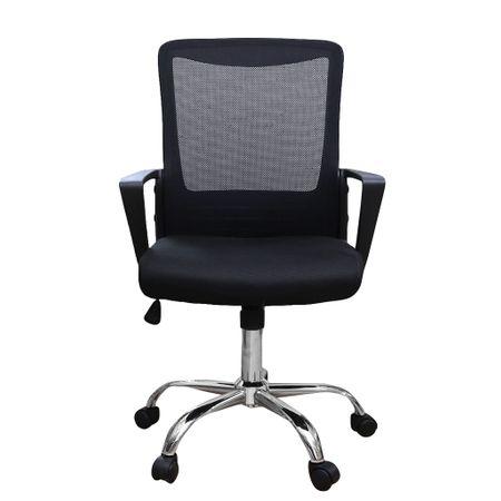 Scaun de birou ergonomic CANNES, mesh, negru 1