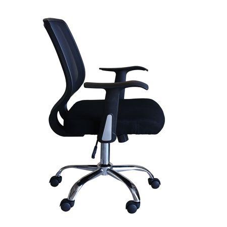 Scaun de birou ergonomic MAMBA, Mesh/Textil, Negru 2