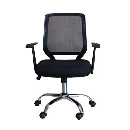 Scaun de birou ergonomic MAMBA, Mesh/Textil, Negru 1