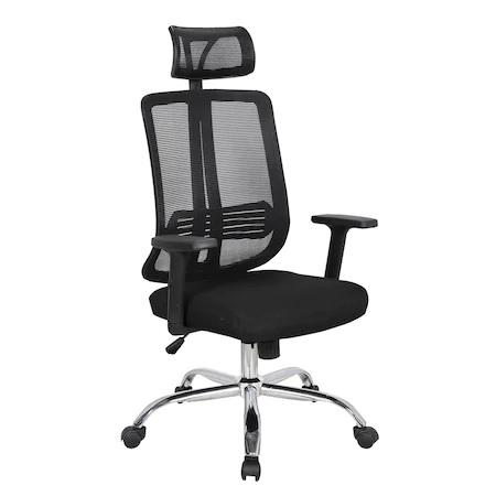 Scaun directorial ergonomic GRAVY, Negru, Mesh /Textil [0]