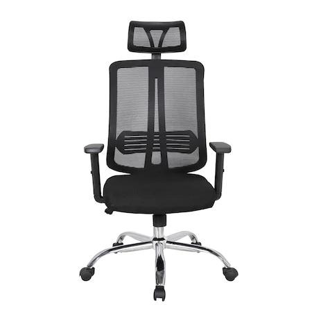 Scaun directorial ergonomic GRAVY, Negru, Mesh /Textil [1]
