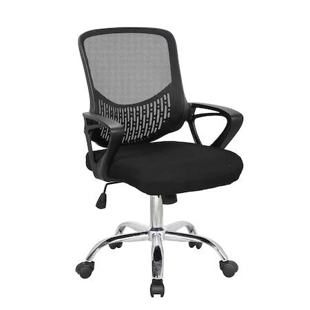 Scaun de birou ergonomic GRAVO, Negru, Mesh/Textil 0