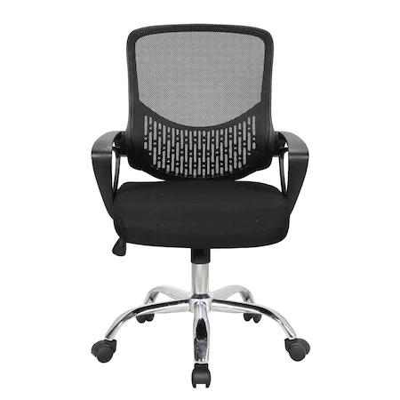 Scaun de birou ergonomic GRAVO, Negru, Mesh/Textil 1