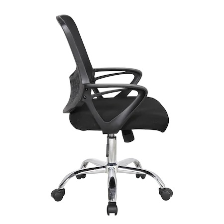 Scaun de birou ergonomic GRAVO, Negru, Mesh/Textil 2