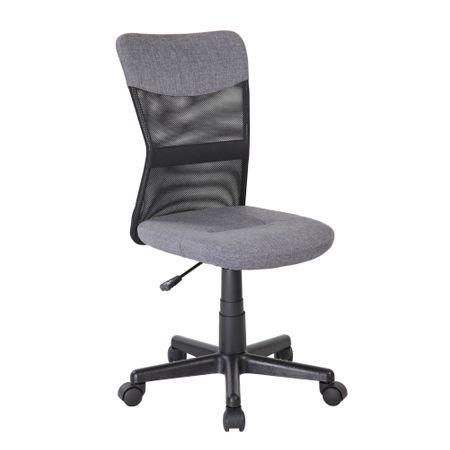 Scaun de birou CHEAP, textil+mesh, gri/negru 0