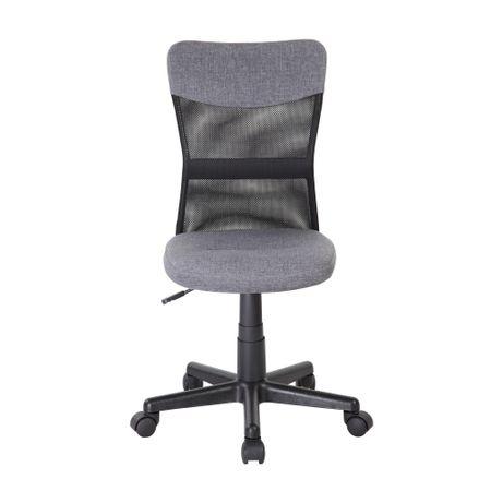 Scaun de birou CHEAP, textil+mesh, gri/negru 1