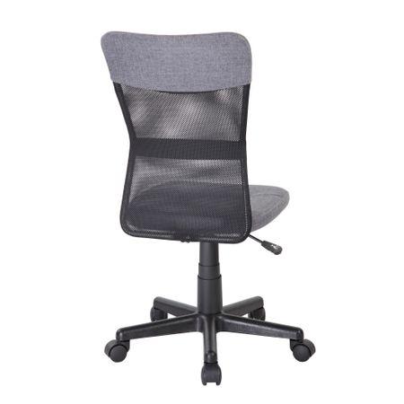 Scaun de birou CHEAP, textil+mesh, gri/negru 3