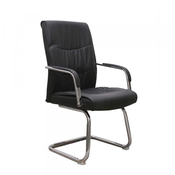 Set 2 scaune de vizitator HEDO CF, piele ecologica, negru [1]