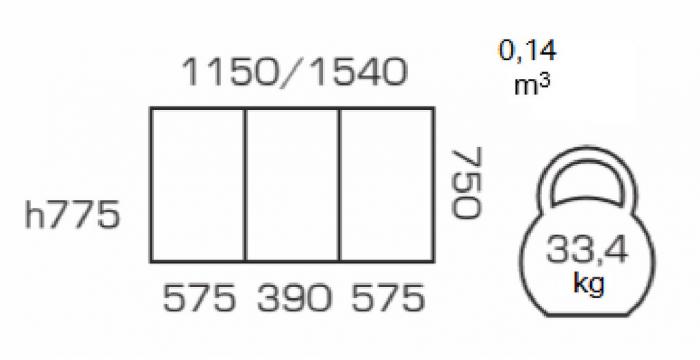 Masa de bucatarie extensibila BREFY, 115(155)*75 cm, Wenge [2]