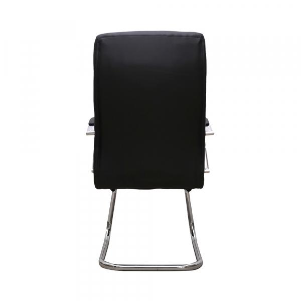 Set 2 scaune de vizitator HEDO CF, piele ecologica, negru [4]