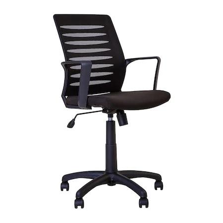 Set 2 scaune de birou MASTER GTP, cu brate, mesh/textil, negru [1]