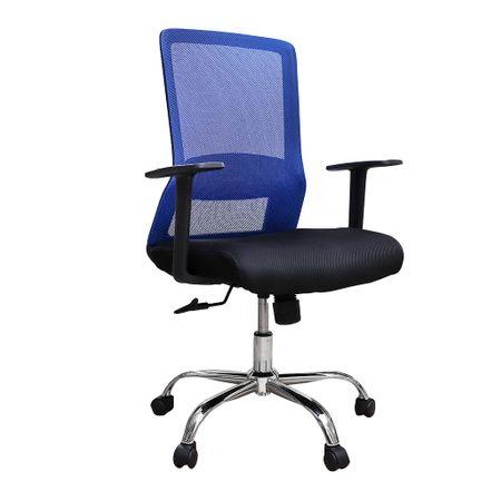 Scaun de birou ergonomic EASY, mesh, negru/albastru 0