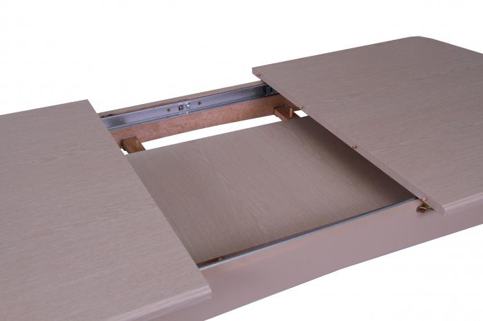 Masa de bucatarie extensibila QUANTAS, 120(160)X70 cm, Beige [1]