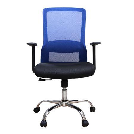 Scaun de birou ergonomic EASY, mesh, negru/albastru 1