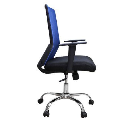 Scaun de birou ergonomic EASY, mesh, negru/albastru 2