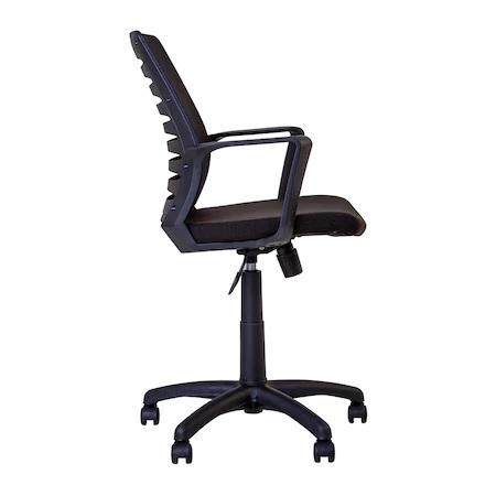 Set 2 scaune de birou MASTER GTP, cu brate, mesh/textil, negru [3]