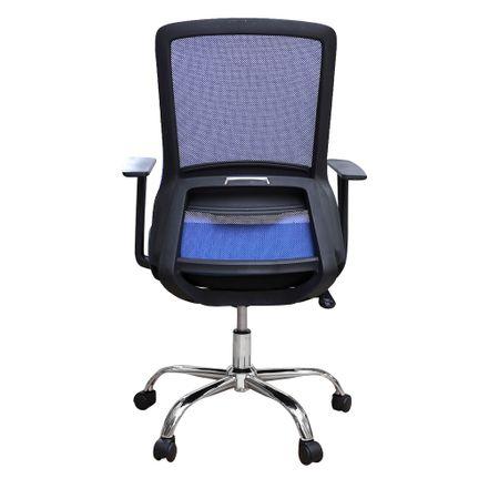 Scaun de birou ergonomic EASY, mesh, negru/albastru 3