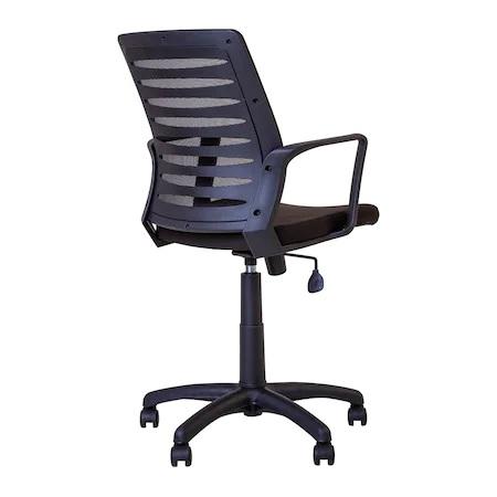 Set 2 scaune de birou MASTER GTP, cu brate, mesh/textil, negru [6]