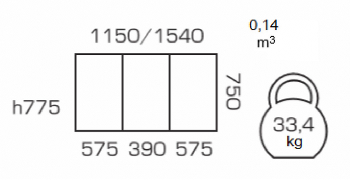 Masa de bucatarie extensibila BREFY, 115(155)*75 cm, White [3]