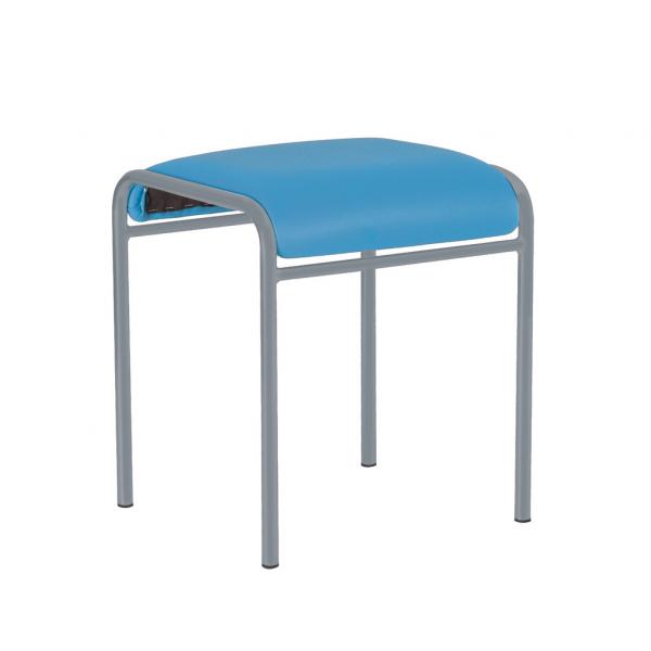 Scaun bucatarie Timber Alu, Albastru piele ecologica 0
