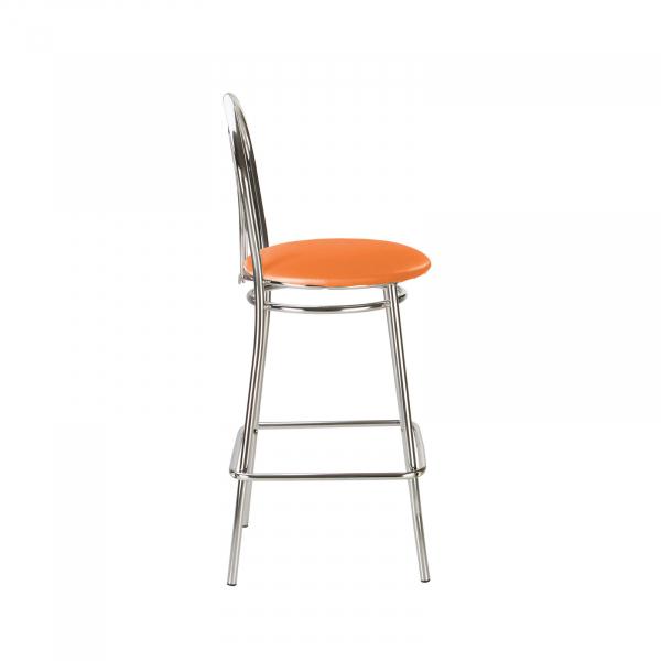 Scaun de bar Picard Hoker, portocaliu, piele ecologica 2