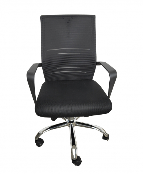 Scaun de birou ergonomic AURORA, Mesh, Negru [0]